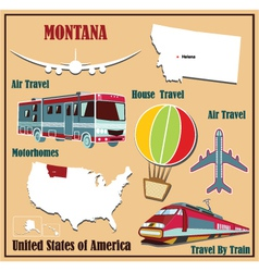Flat map of Montana vector image vector image