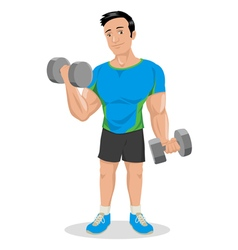 Cartoon Fitness Dumbbells vector image