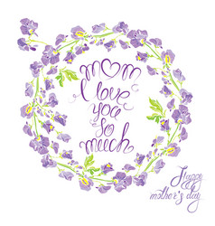 decorative handdrawn floral round frame with sweet vector image vector image