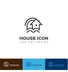 house icon home logo construction and real vector image vector image