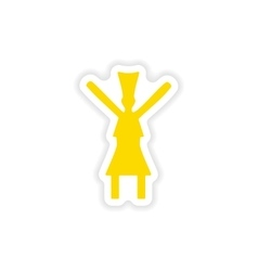 Icon sticker realistic design on paper dance vector