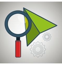 search cursor gear vector image