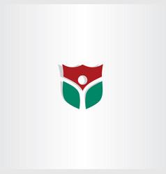 security man shield logo icon vector image