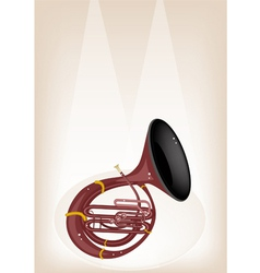 A Musical Sousaphone on Brown Stage Background vector image vector image