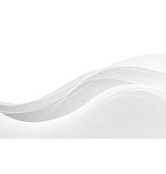 Abstract white waves - data stream concept vector image vector image