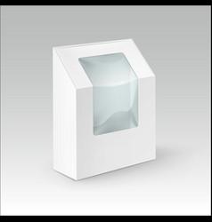 cardboard rectangle take away box for sandwich vector image