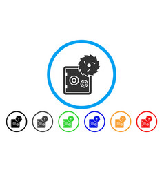 safe hacking theft rounded icon vector image