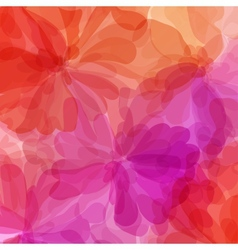 Red background watercolor painting vector image vector image