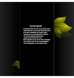 Spring abstract background on black background vector image