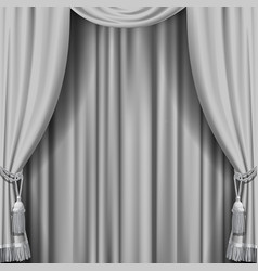 white curtain vector image vector image
