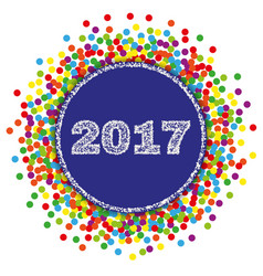 2017 happy new year background with confetti vector
