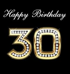 30th happy birthday vector