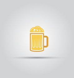 a glass of beer isolated colored icon vector image