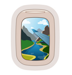 aairplane window traveling plane and vector image