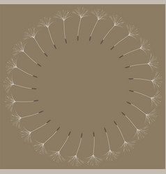 abstract frame of a dandelion for design vector image