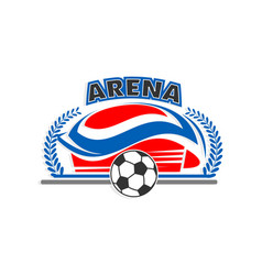 arena soccer or football sport stadium icon vector image