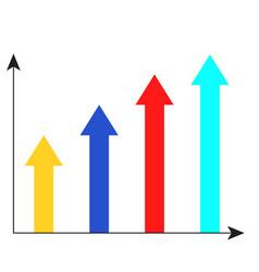 arrow growth chart vector image