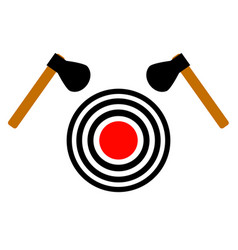 Ax throwing target on a white background vector