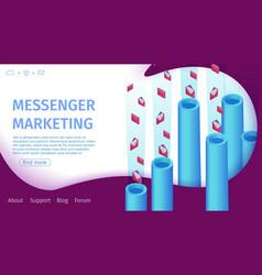 banner messenger marketing vector image