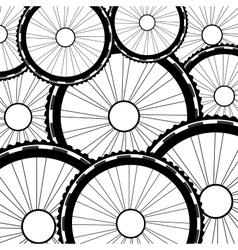 Bicycle wheel bike wheels background vector image