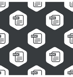 Black hexagon DOC file pattern vector image