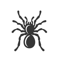 black spider silhouette icon on white background vector image