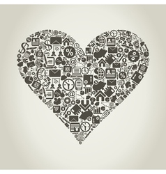 Business heart vector