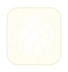 Button square cracks in the porcelain vintage vector