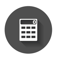 calculator icon flat icon with long shadow vector image