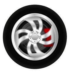 Car wheel 3d vector