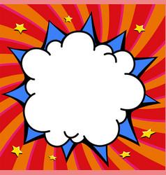 comics pop-art style empty bang shape on a multi vector image