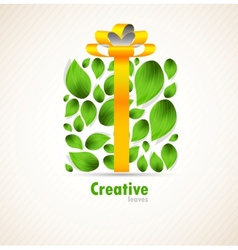 Concept with box and leaves vector image