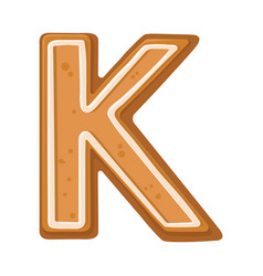 Cookies in shape letter k vector