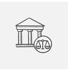Court sketch icon vector image