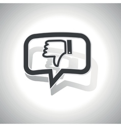 Curved dislike message icon vector