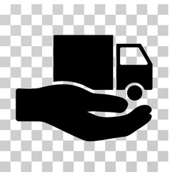 delivery service hand icon vector image