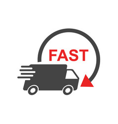 delivery truck fast delivery service shipping vector image