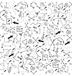 Different Arrows Seamless Pattern vector image