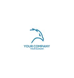 eagle line head logo design vector image