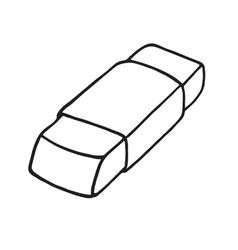 Eraser icon Outlined vector