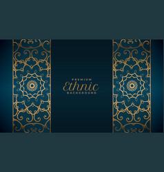 Ethnic style mandala pattern premium background vector