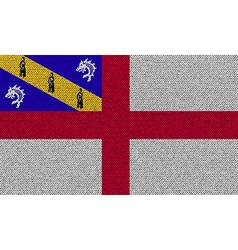 Flags herm on denim texture vector