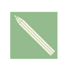 Flat pencil icon education vector