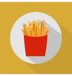 French fries flat vector
