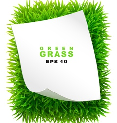 Grassy rectangle with a clean sheet of paper vector