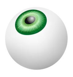 green retina eyeball mockup realistic style vector image