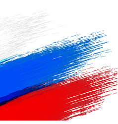 Grunge background in colors of russian flag vector