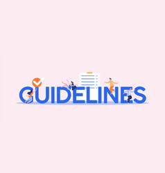 Guidelines and orders information management rule vector