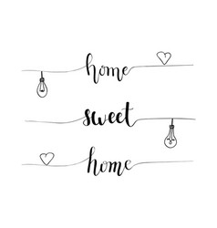 Hand-drawn home sweet home proverb vector