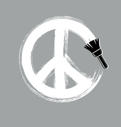 hand-drawn peace sign antiwar symbol from 60s vector image